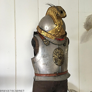 1890/1900 Antique French Child Toy Armor and Helmet Harness