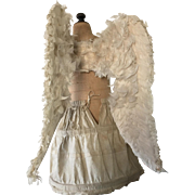 1920's White French Processional Angel Wings Child Mannequin Nunnery