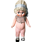 1920's Flapper Kewpie Bisque Doll Finger Wave Wig Child