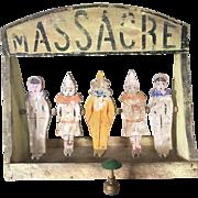 1900's French Jeu de Massacre Toy Child Carnival Ball Game Doll