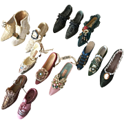 Vintage Miniature Shoes Lot of 14 pieces collectible ornament boots