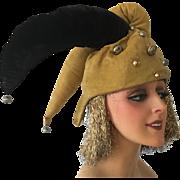1930/40's Original Folie Bergeres Jester Stage Clown Theater Headdress