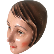 1920's Mannequin Head Siegel Plaster Flapper Display