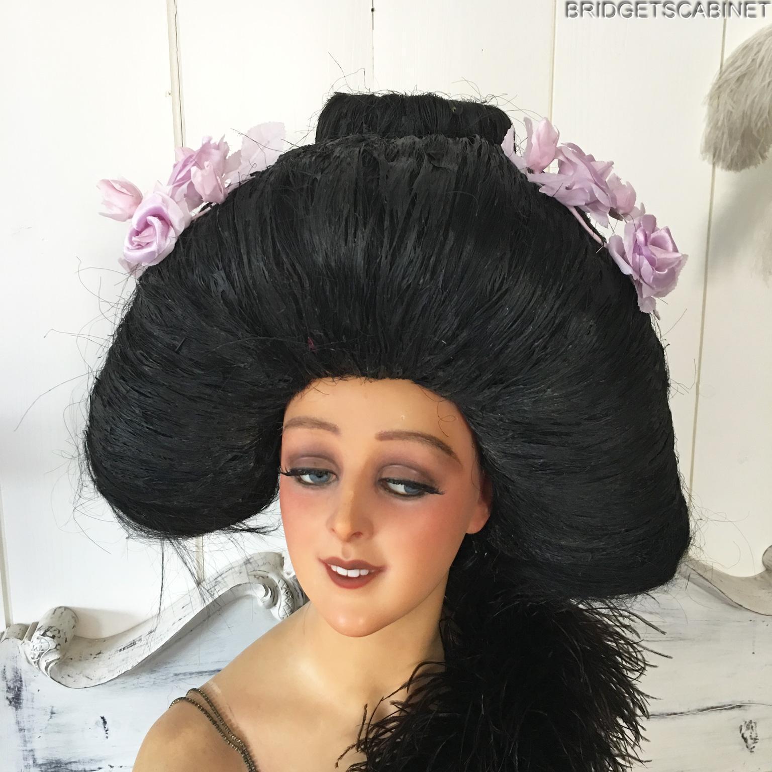 1930/40's Rare Folie Bergeres Stage Cabaret Geisha Theater Wig