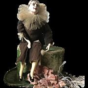 Stunning 1920's Boudoir Doll Lilli Baitz Harlequin Pierrot