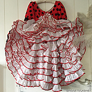 Vintage French 1960's Polka CanCan Stage Dress