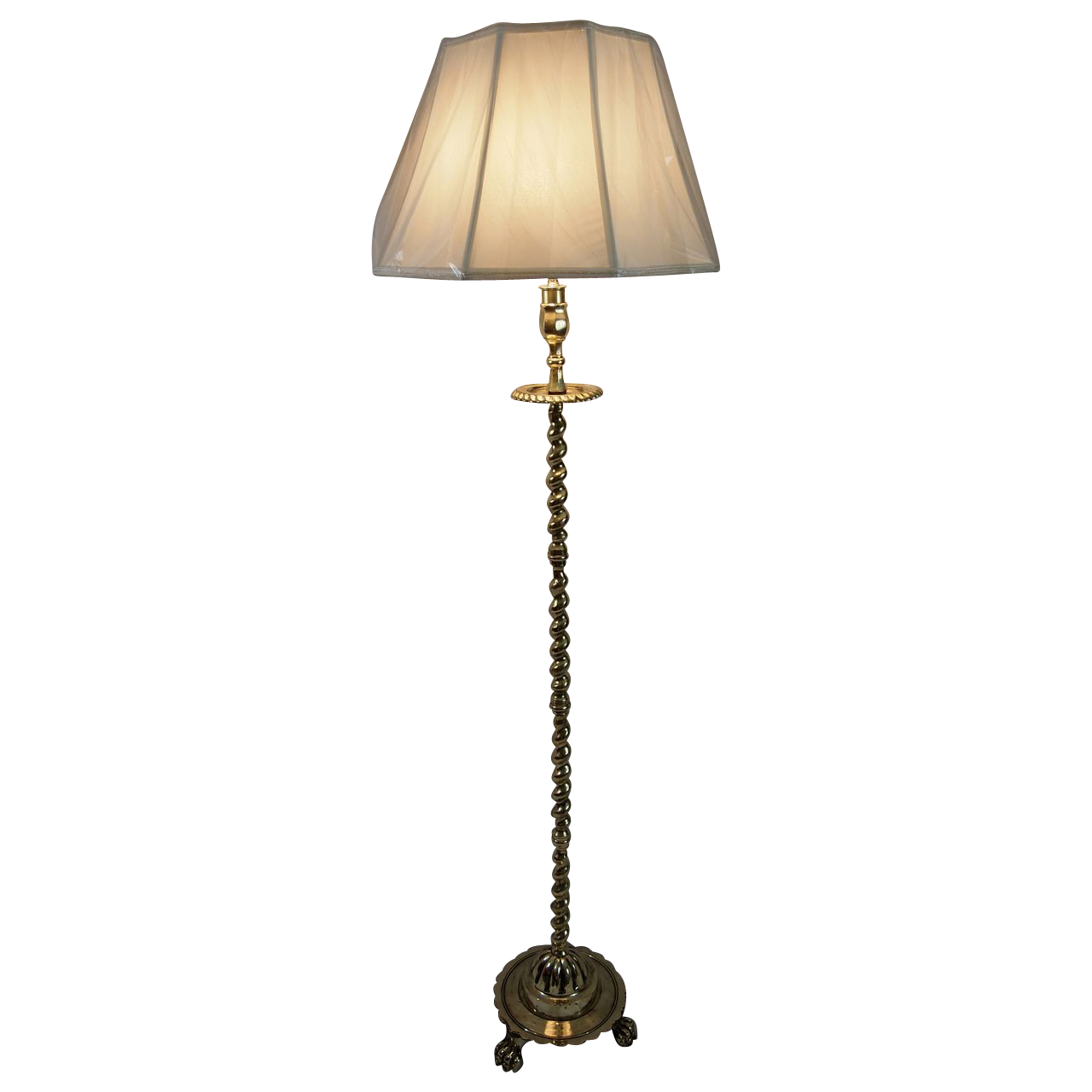 1900s English Brass Floor Lamp Sold On Ruby Lane