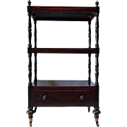 19th Century English Rosewood Etagere