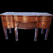 19th Century English Mahogany Hepplewhite Style Serpentine Front Sideboard