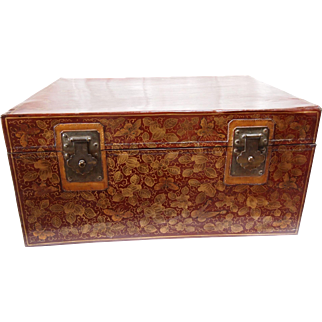 19th Century Chinese Leather Trunk