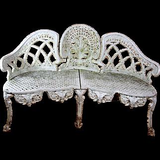 19th Century Cast Iron Garden Bench