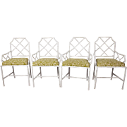 Set of four Faux Bamboo Chairs