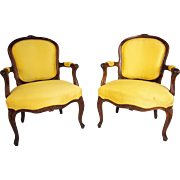 Pair of Louis XV Style Arm Chairs