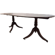 Regency Style Double Pedestal Dining Table