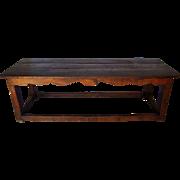 Antique English Oak Farm Table