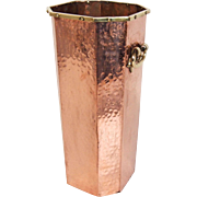Hammered Copper Umbrella Stand