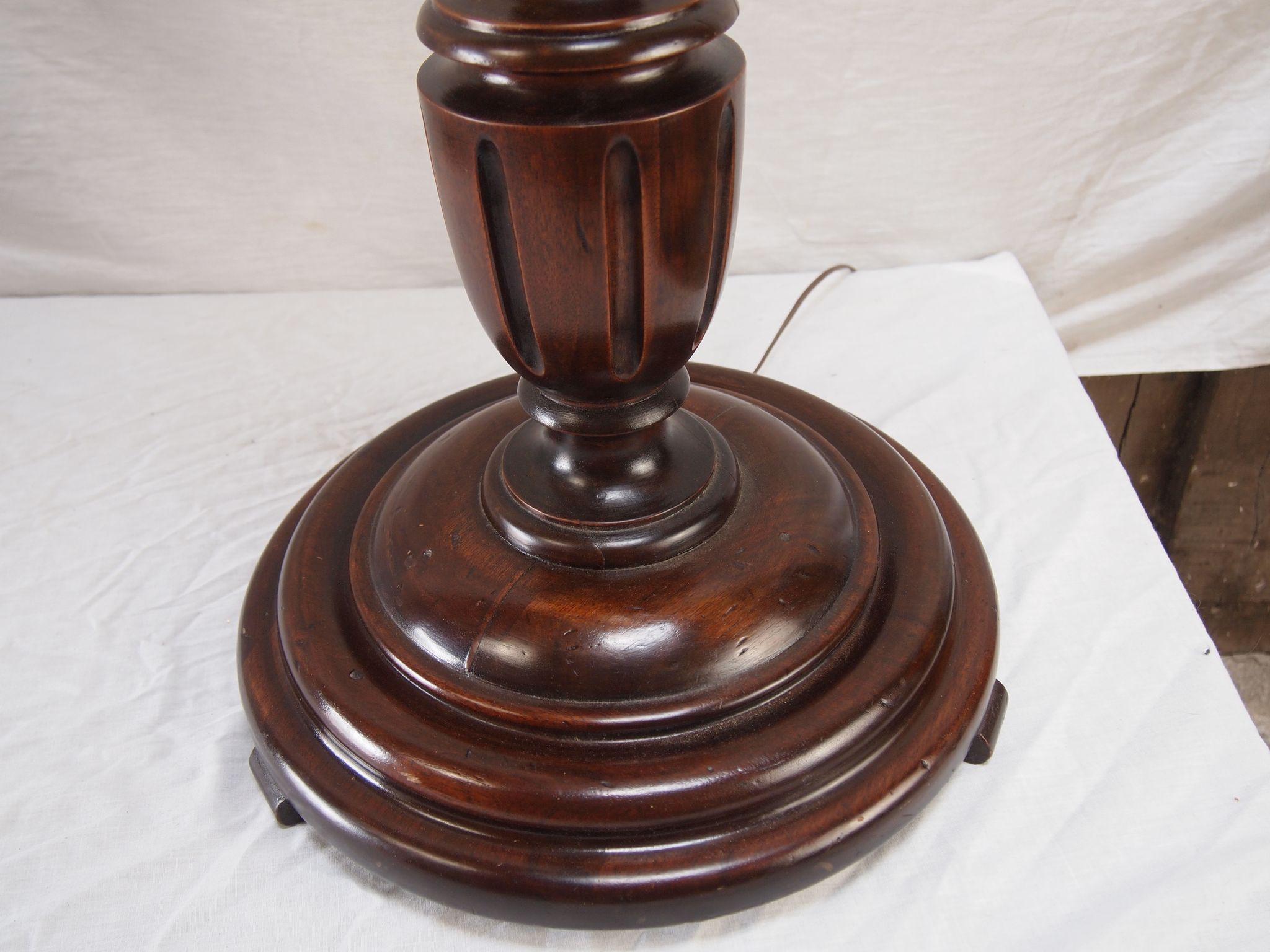 Antique mahogany floor lamp gurus floor for Antique mahogany floor lamp