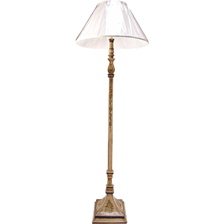 French Painted Floor Lamp
