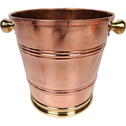 Vintage Copper and Brass Champagne Bucket