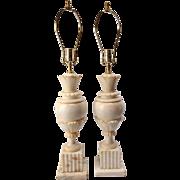 Pair of Italian Alabaster Lamps