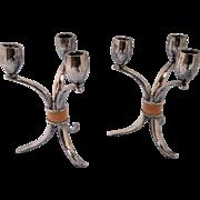 Vintage Rogers Brothers 3 Arm Candelabra- a Pair