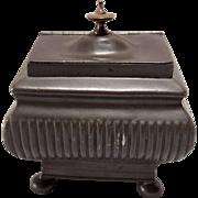19th C English Regency  Pewter Tea Caddy