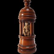 Grand Tour Walnut Temple Candlestick