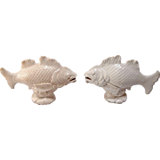 Pair of Early 20th C Chinese Blanc De Chine Carps