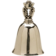 Georg Jensen Sterling Silver Acorn Pattern Table Bell No. 204 by Johan Rohde