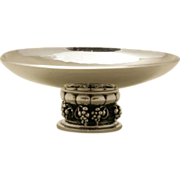 Georg Jensen Sterling Silver Footed Grape Dish No. 296E
