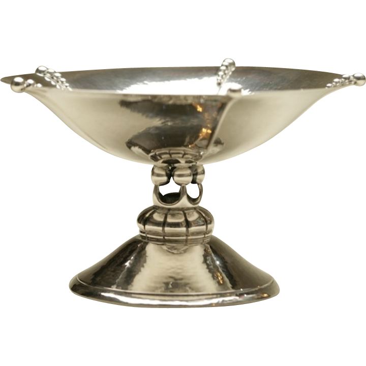 Grann & Laglye Sterling Silver Footed Compote Dish