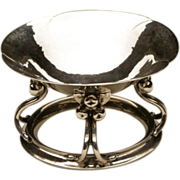 Georg Jensen Sterling Silver Rare Footed Dish No. 15 Designed by Georg Jensen