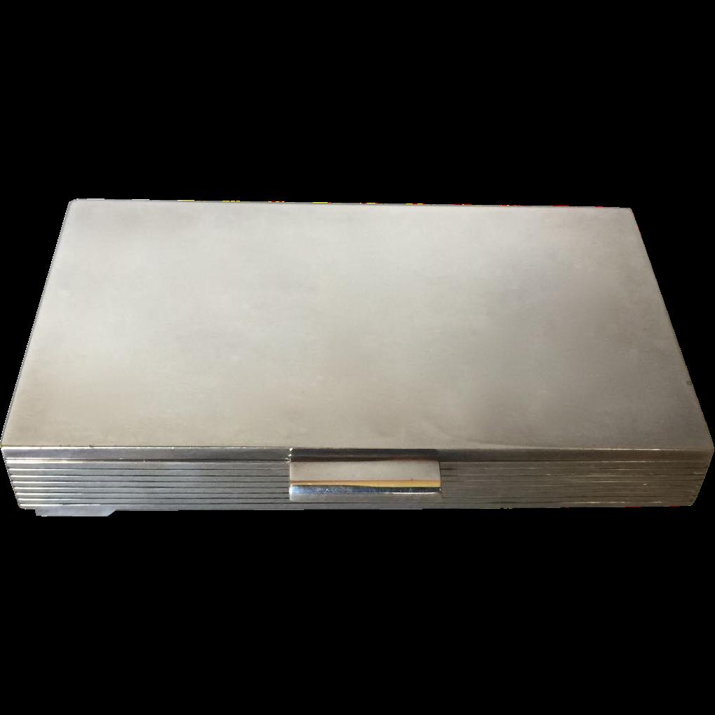 Georg Jensen Sterling Silver Keepsake Box No. 712C by Sigvard Bernadotte