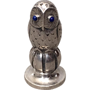 "Georg Jensen Super Rare Sterling Silver ""Owl"" Wax Seal with Lapis Lazuli"