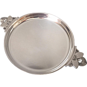 "Georg Jensen Sterling Silver Small ""Cactus"" Tray No. 629B by Gundorph Albertus"
