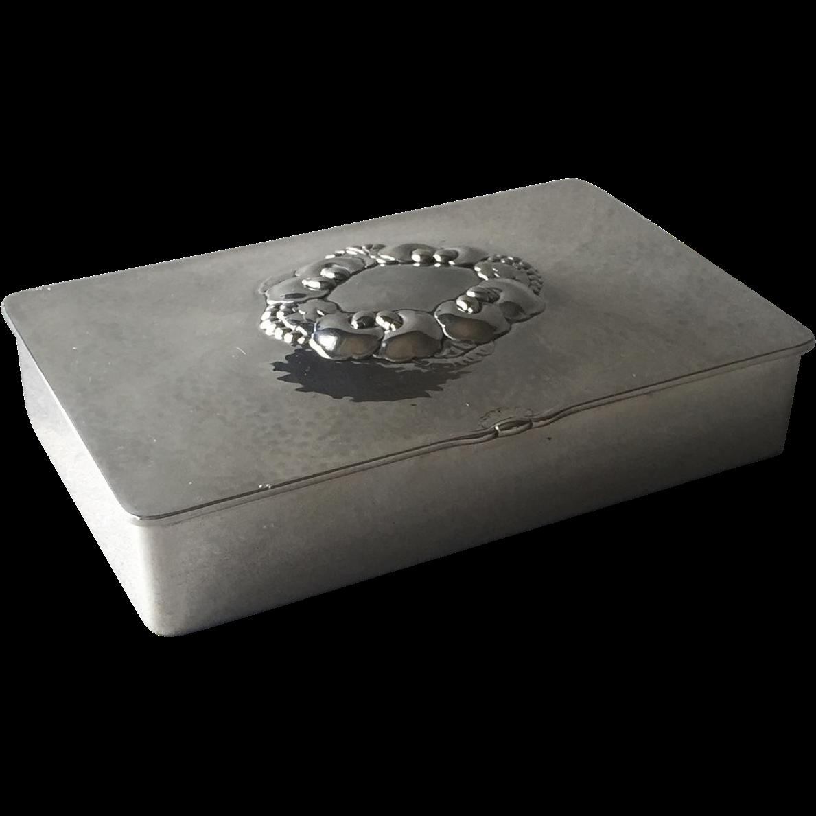 georg jensen sterling silver keepsake box no 507a by gundorph gallery 925 ruby lane. Black Bedroom Furniture Sets. Home Design Ideas