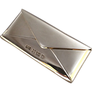 Contemporary English Sterling Silver Card Case by Philip Kydd