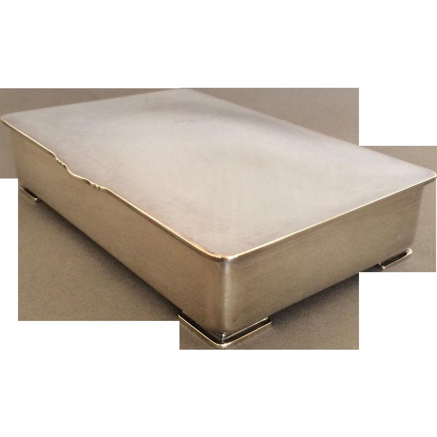 georg jensen sterling silver footed keepsake box by gundorph albertus gallery 925 ruby lane. Black Bedroom Furniture Sets. Home Design Ideas