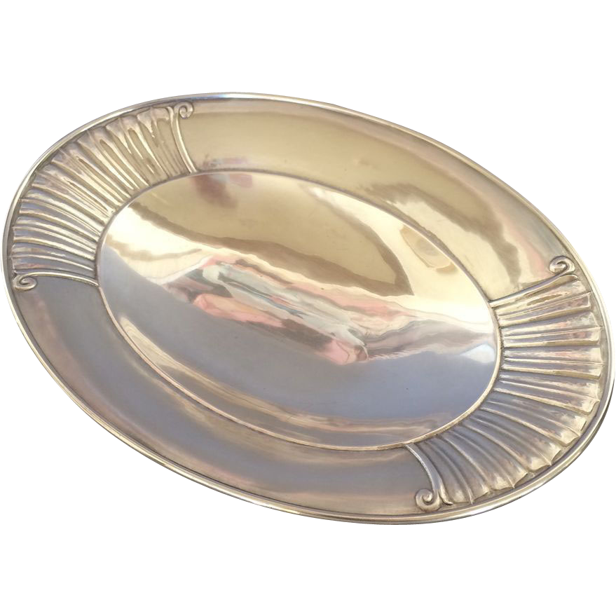 Georg Jensen Sterling Silver Serving Dish No. 45 By Johan Rohde