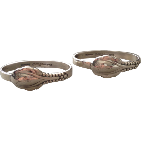 Evald Nielsen Sterling Silver Napkin Rings No. 3