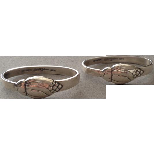 Evald Nielsen Sterling Silver Napkin Rings No. 6