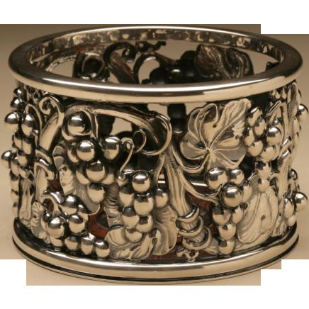 Evald Nielsen Sterling Silver Wine Coaster