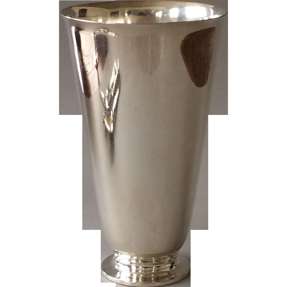Georg Jensen Sterling Silver Vase No. 674 by Harald Nielsen