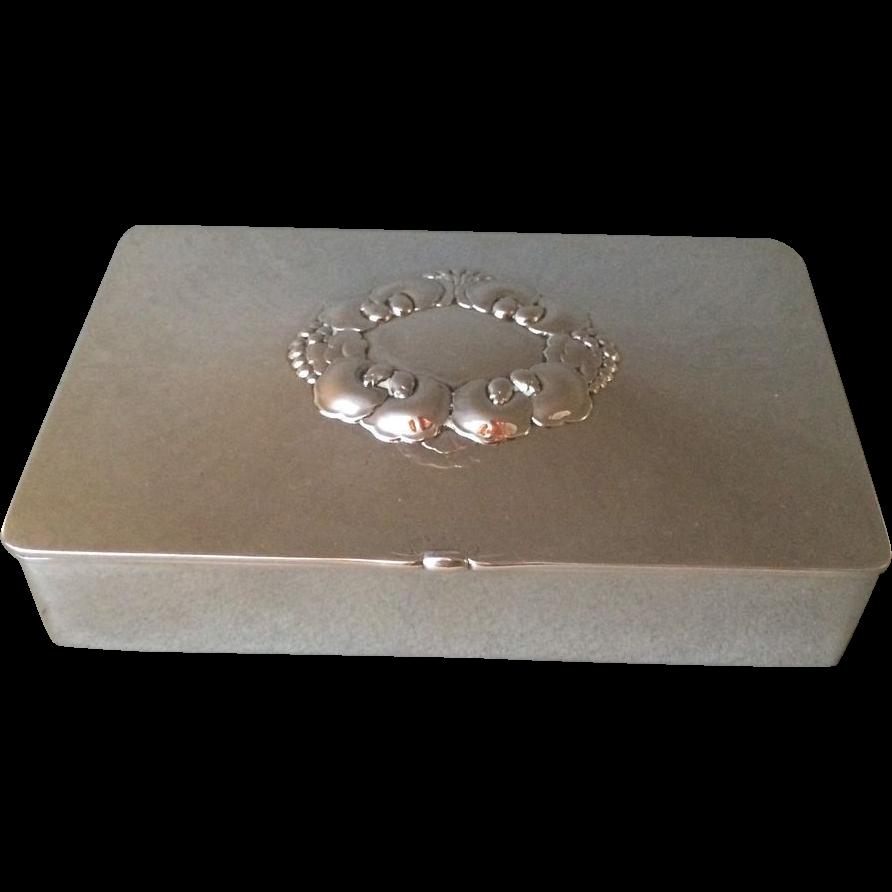 georg jensen sterling silver keepsake box no 507a by gundorph from gallery925 on ruby lane. Black Bedroom Furniture Sets. Home Design Ideas