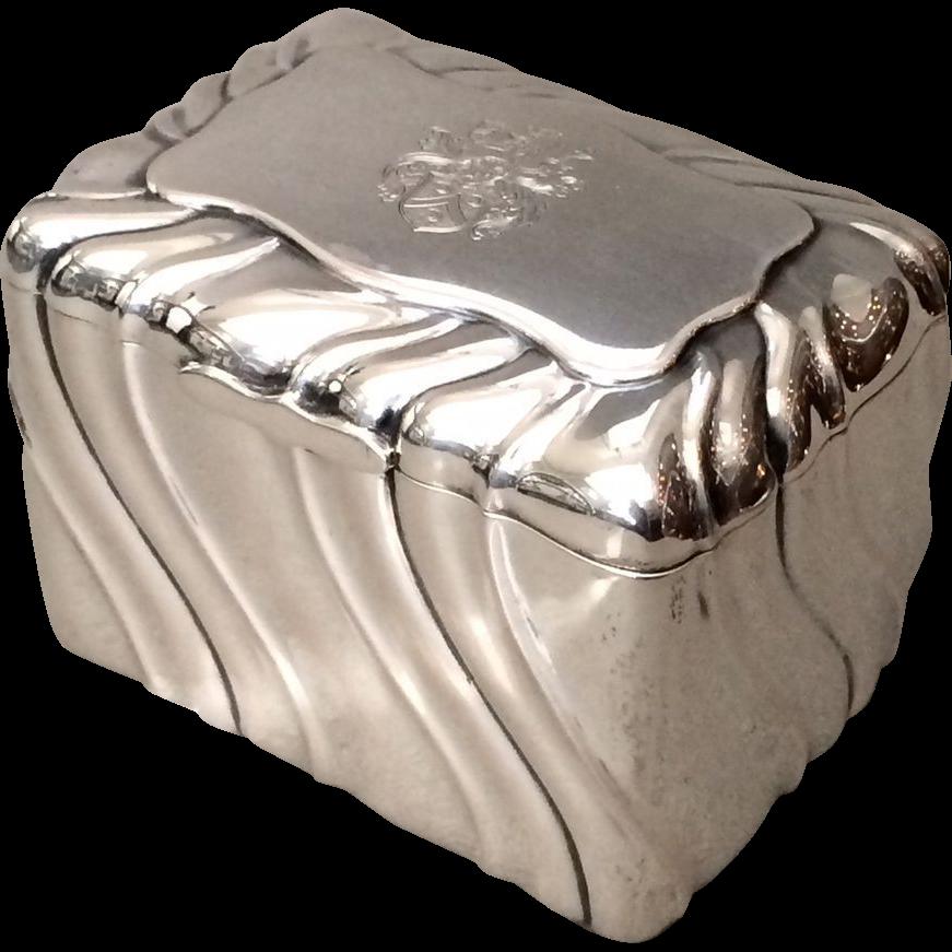 Anton Michelsen 830 Silver Tea Caddy