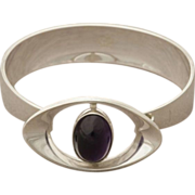 N.E. FROM Sterling Silver Rare Amethyst Cuff
