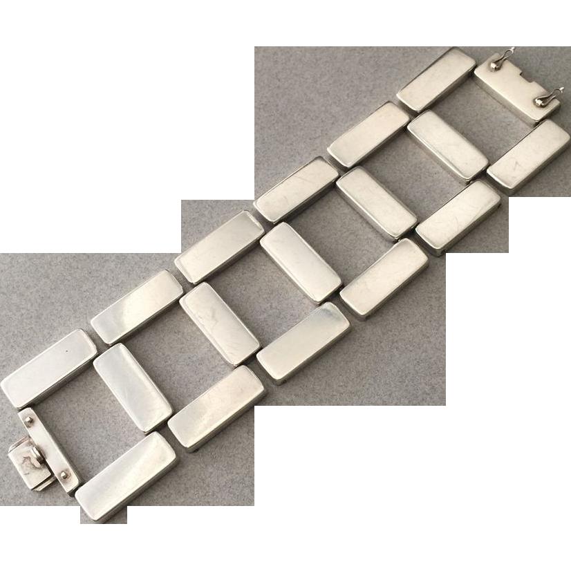 Georg Jensen Sterling Silver Modernist Bracelet No. 195 By Astrid Fog, Circa 1970