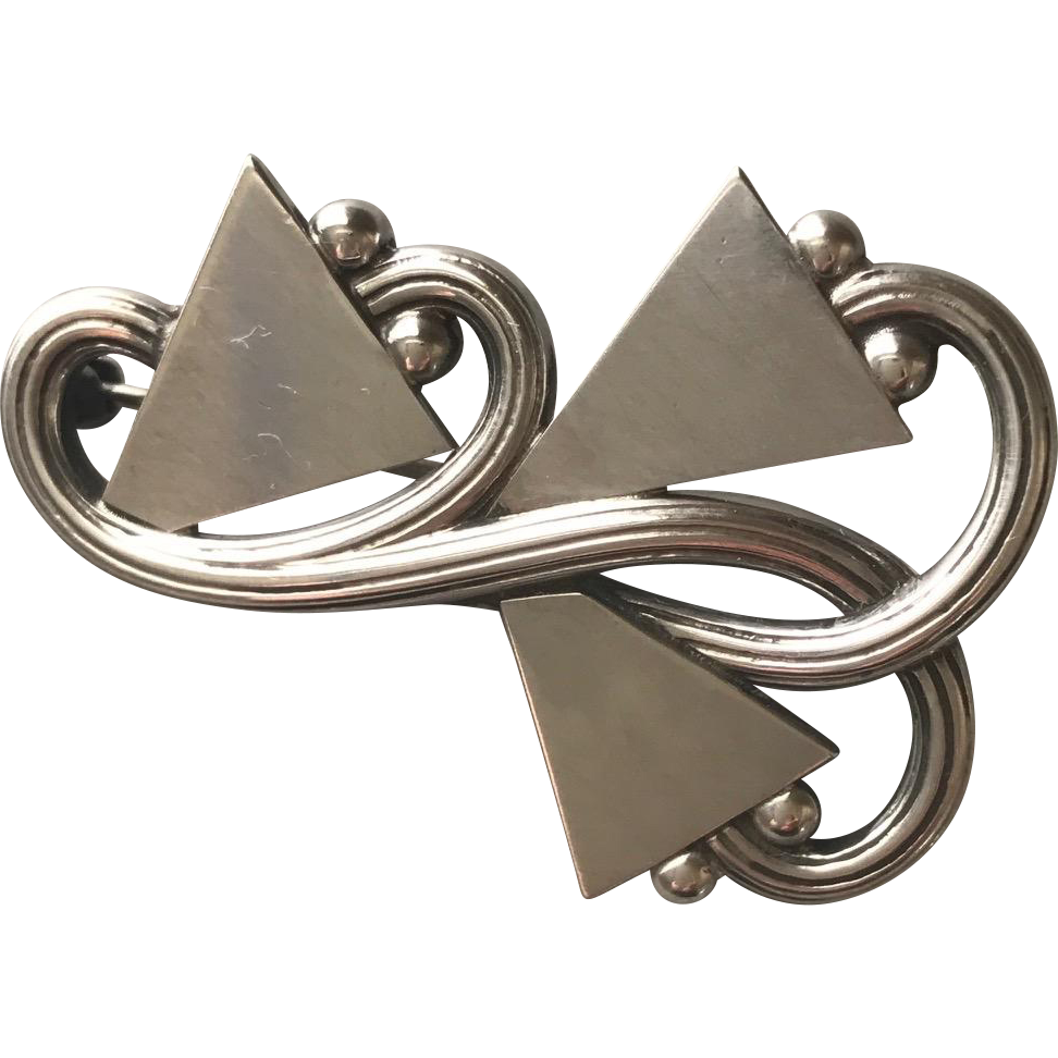 Georg Jensen Sterling Silver Brooch, No. 308