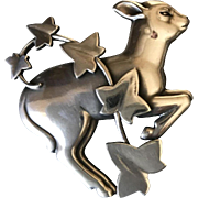 Georg Jensen Sterling Silver Lamb and Ivy Brooch No. 311 by Arno Malinowski