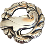 Georg Jensen Sterling Silver Bird Brooch No. 123